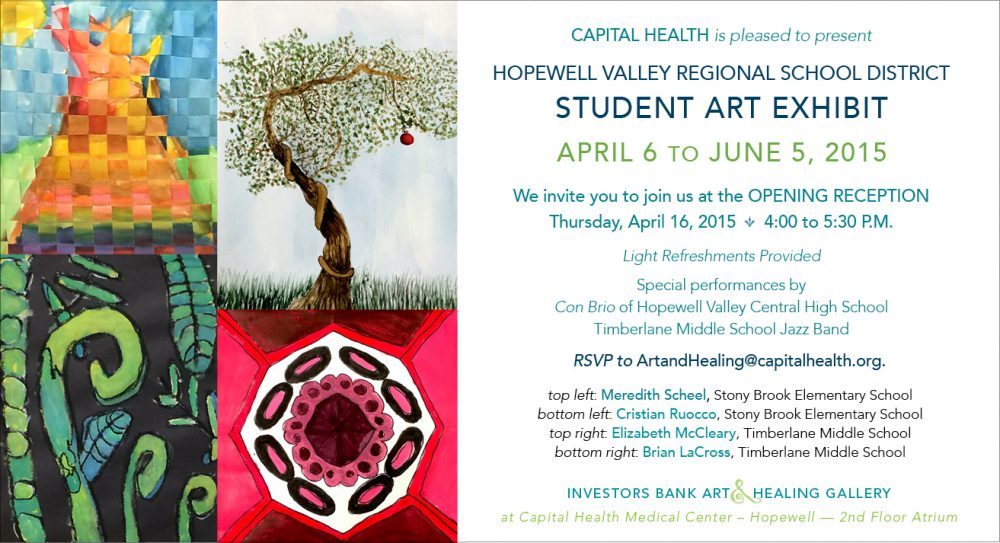 Exhibition Booth Invitation : Hvrsd student art exhibit hopewell valley arts council