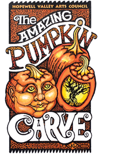 The Hopewell Valley Arts Council's aMAZing Pumpkin Carve