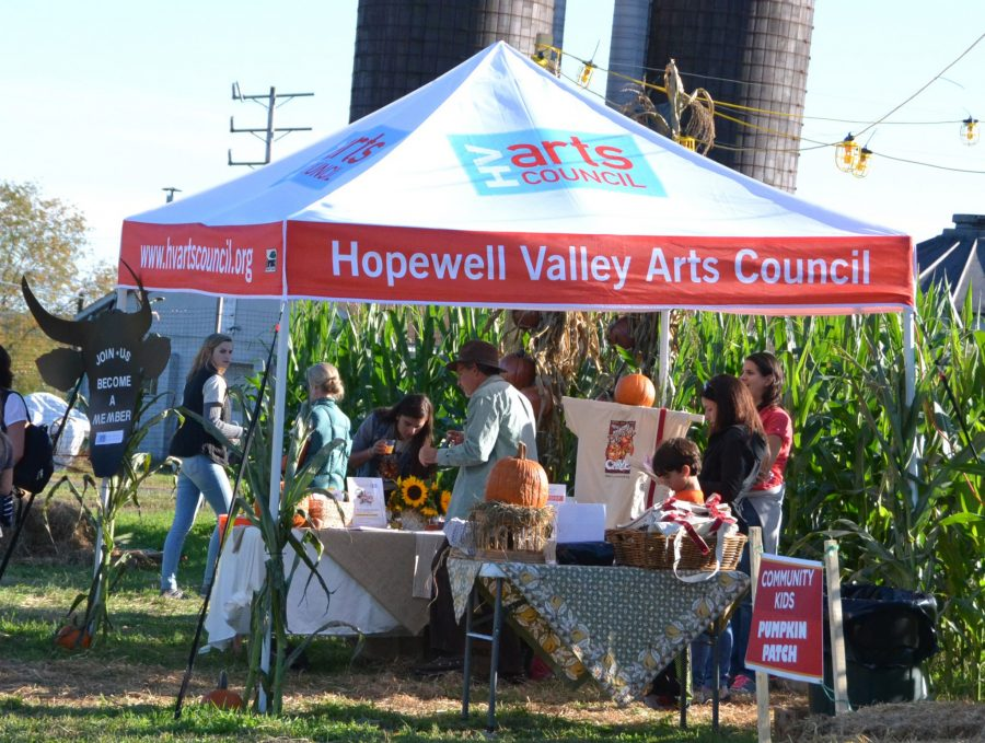 Hopewell Valley Arts Council tent at Amazing Pumpkin Carve