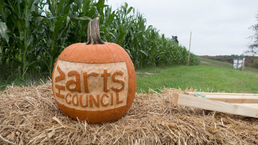 Hopewell Valley Arts Council carved pumpkin