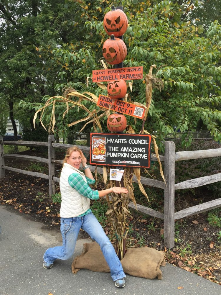 Susie Henkel with the aMAZing Pumpkin Carve Totem