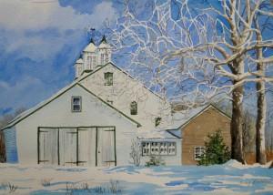 McDougald's Barn in Winter-lowerres