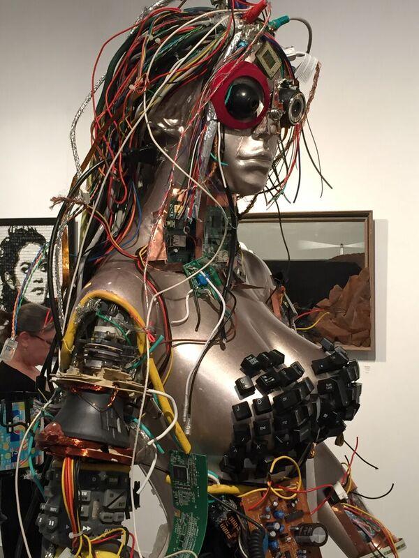 Upcycled Cyborg Woman by Sandy Bonasera