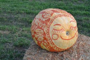 Hopewell Valley Arts Council's 2015 Smiling aMAZing Pumpkin