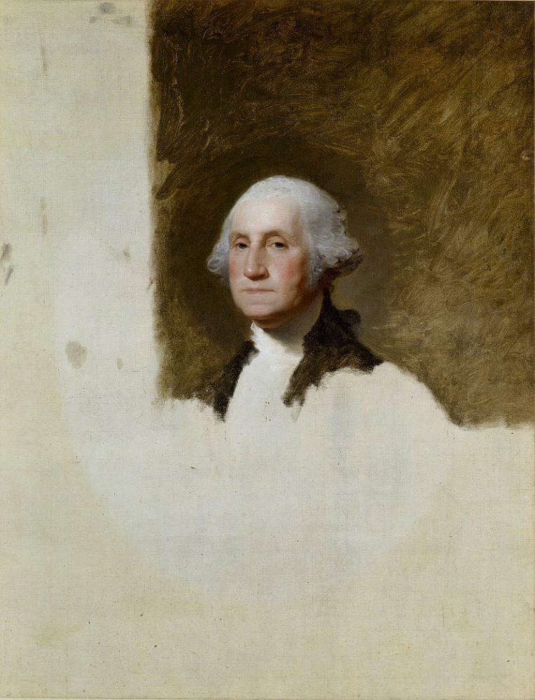 Salon Redux Gala will be upcycled into something else like this unfinished portrait of George Washington