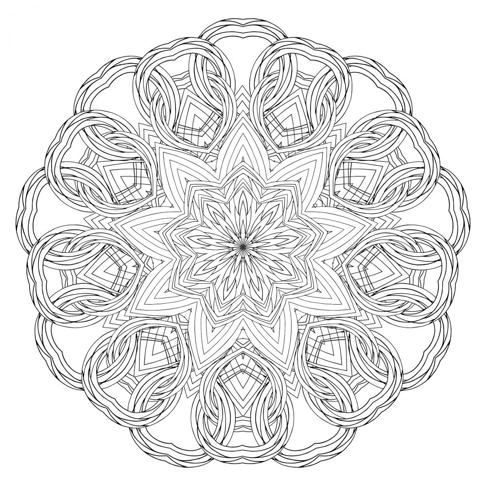 (50th and Last) Daily Dose of Art: Color a Mandala