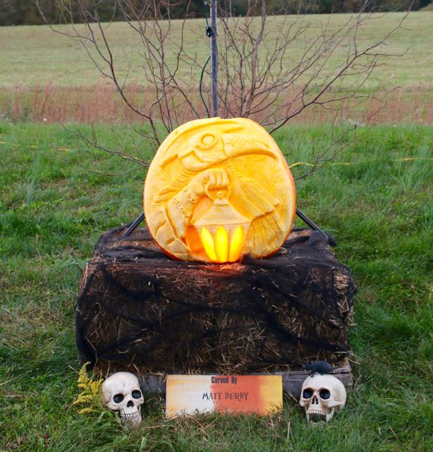 HV Arts Council 2020 Pumpkin Carve Matt Derby Carver